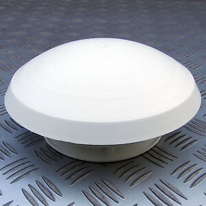 Roof Vent For 80mm Hose White Round Mushroom Caravan