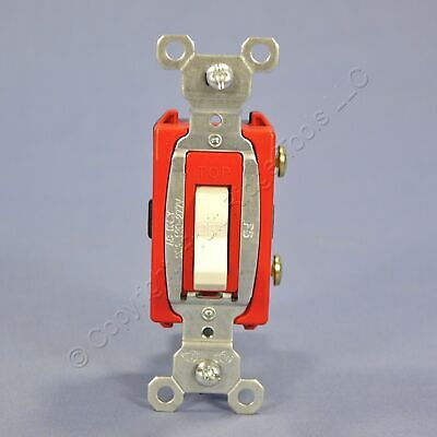 Pass Seymour Light Almond Commercial Toggle Light Switch 20a Cs20ac1-la
