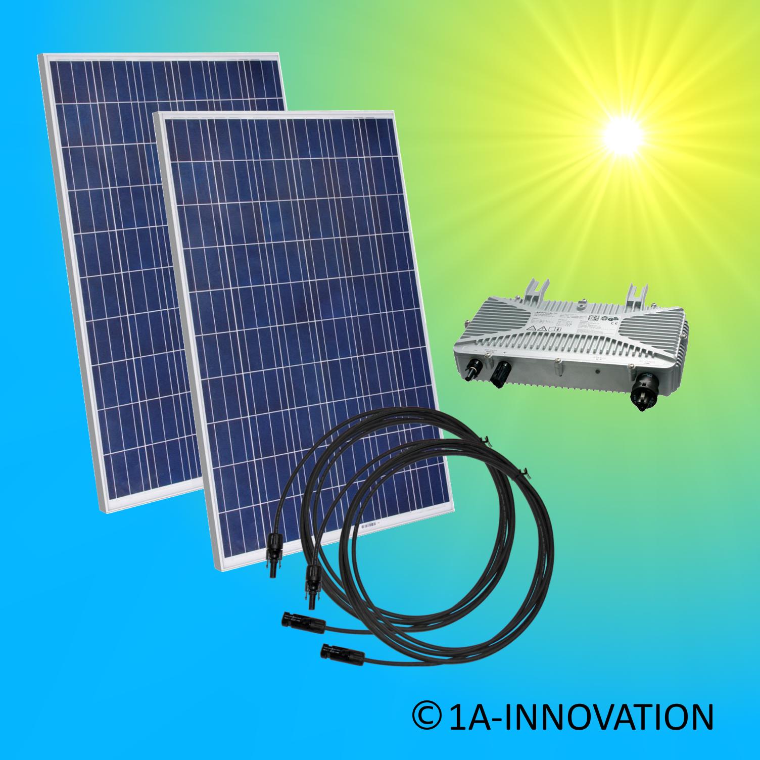 solaranlage komplettpaket 500watt 0 5 kw solar anlage hausnetzeinspeisung plug ebay. Black Bedroom Furniture Sets. Home Design Ideas