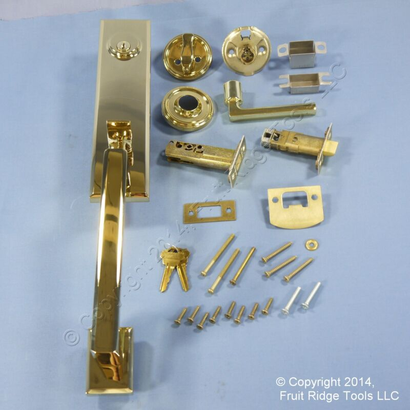 Entry Door Knob Handle & Deadbolt P. Brass 6611BH301
