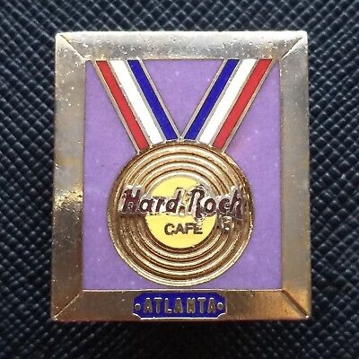 HARD ROCK CAFE - 1996 ATLANTA USA-  Pin with Gold Medal - HRC 2 Line Pin # 50673 - Medallion 2 Line