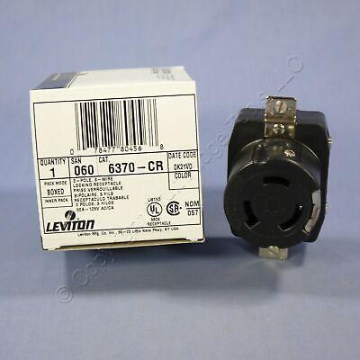 New Leviton Twist Lock Corrosion Resistant Receptacle Non-nema 50a 6370-cr Boxed