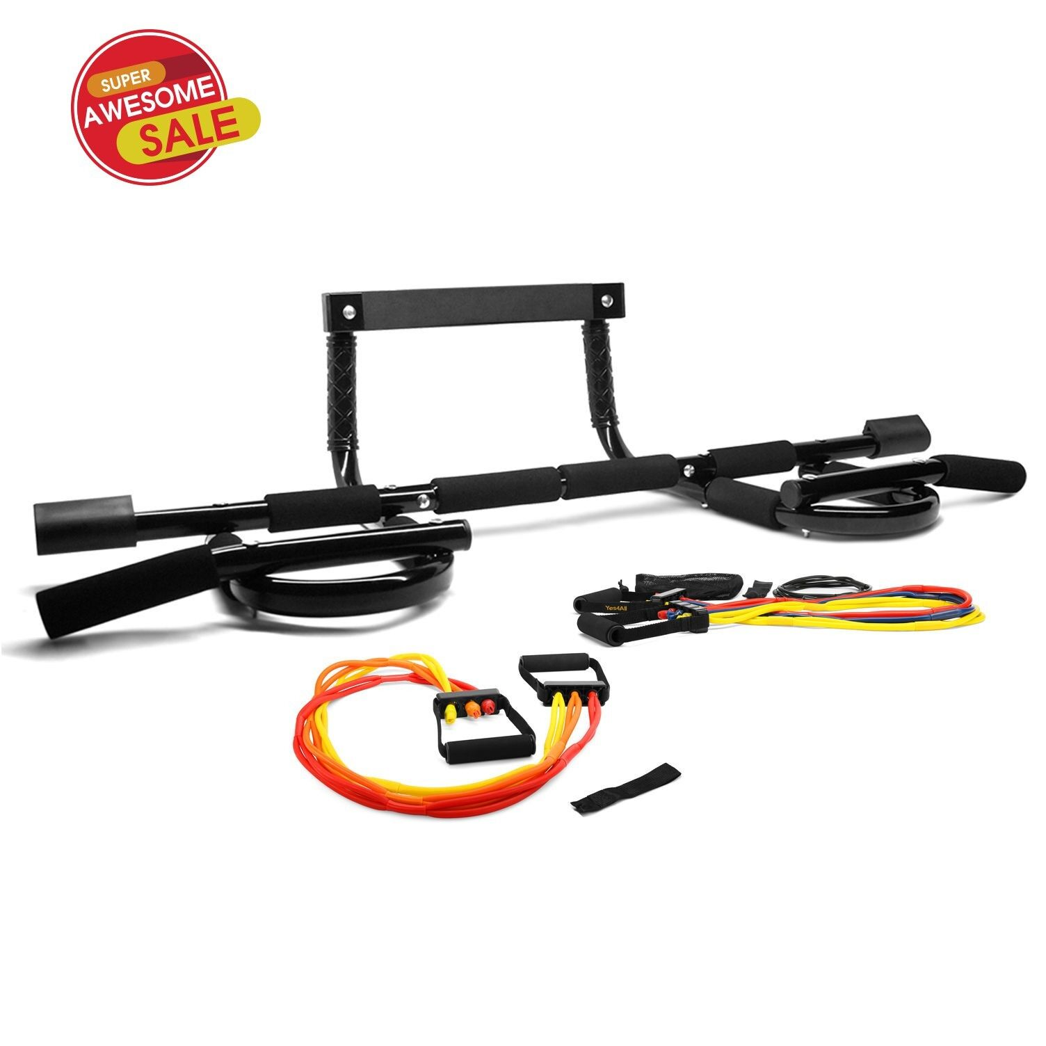 CXP Chin Pull Up Bar Doorway Home Fitness + 7 X-Safe