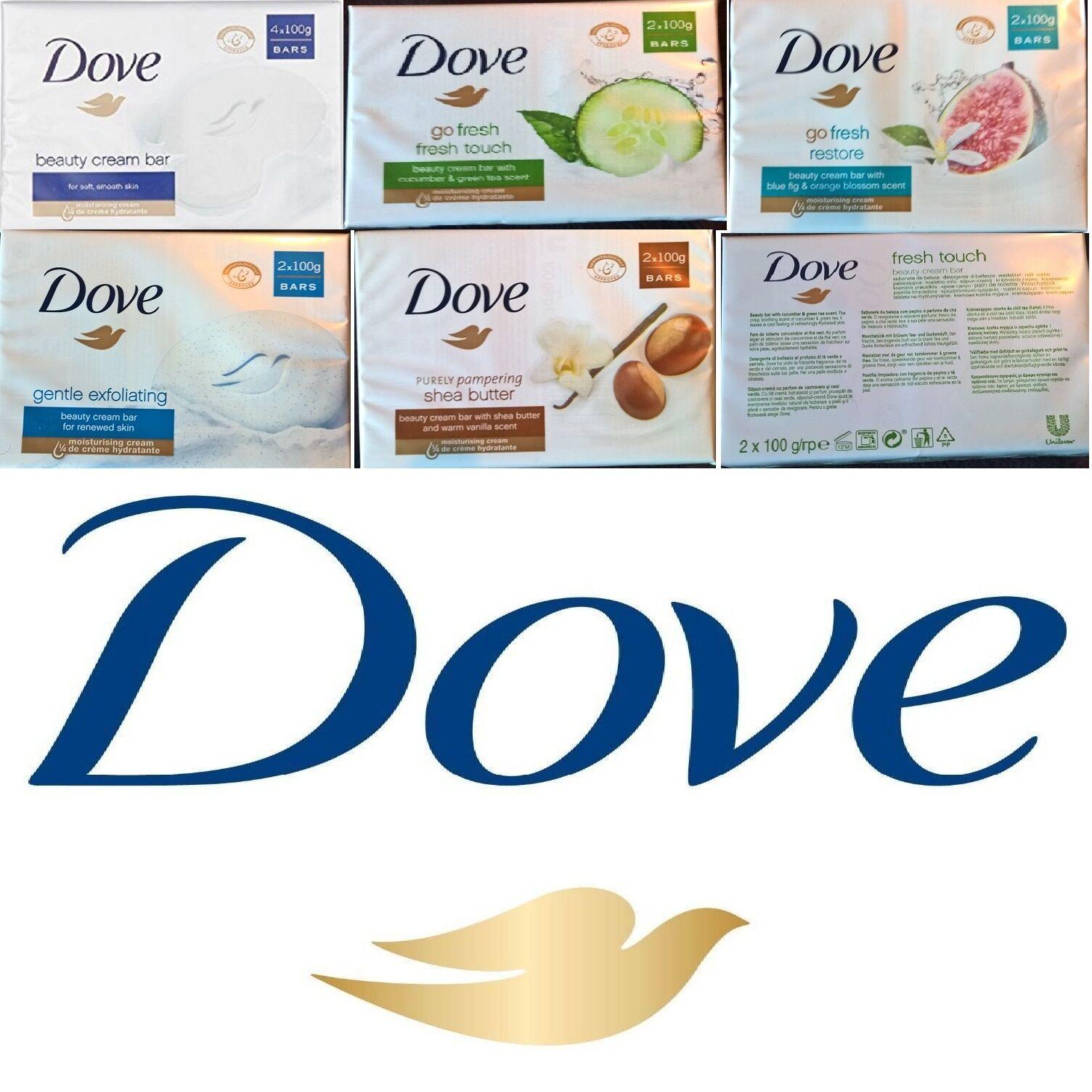 16 to 2 Bars DOVE BEAUTY CREAM SOAP 100 g MOISTURISING SHOWER BATH UK Seller