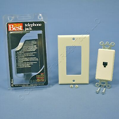 Do It Best Almond Decorator Type 625 Phone Jack Telephone Wall Plate 552496