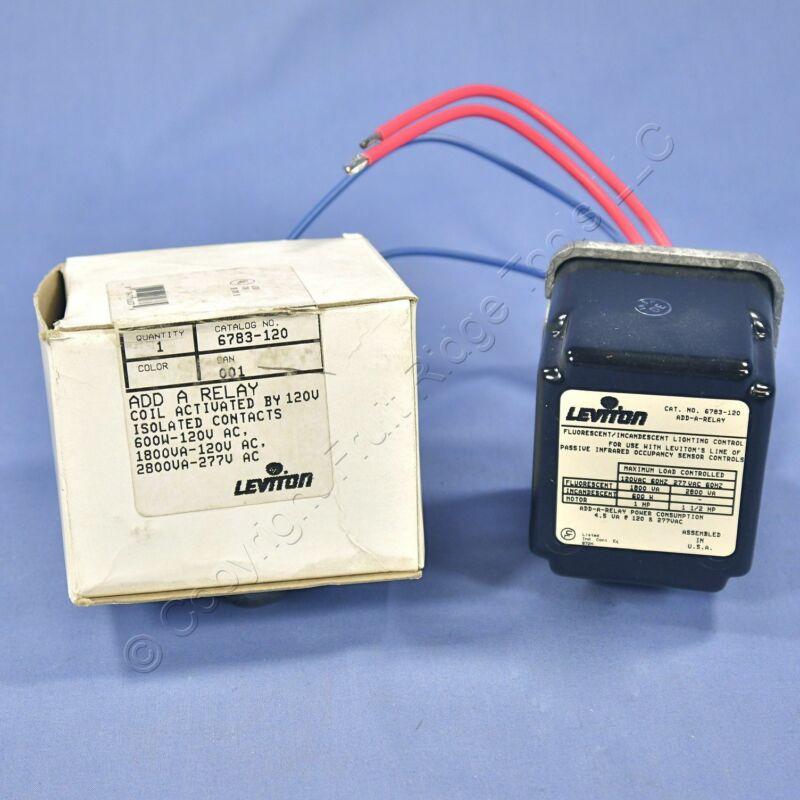 Leviton Occupancy Sensor Add-A-Relay Coil 120V Incandescent Fluorescent 6783-120