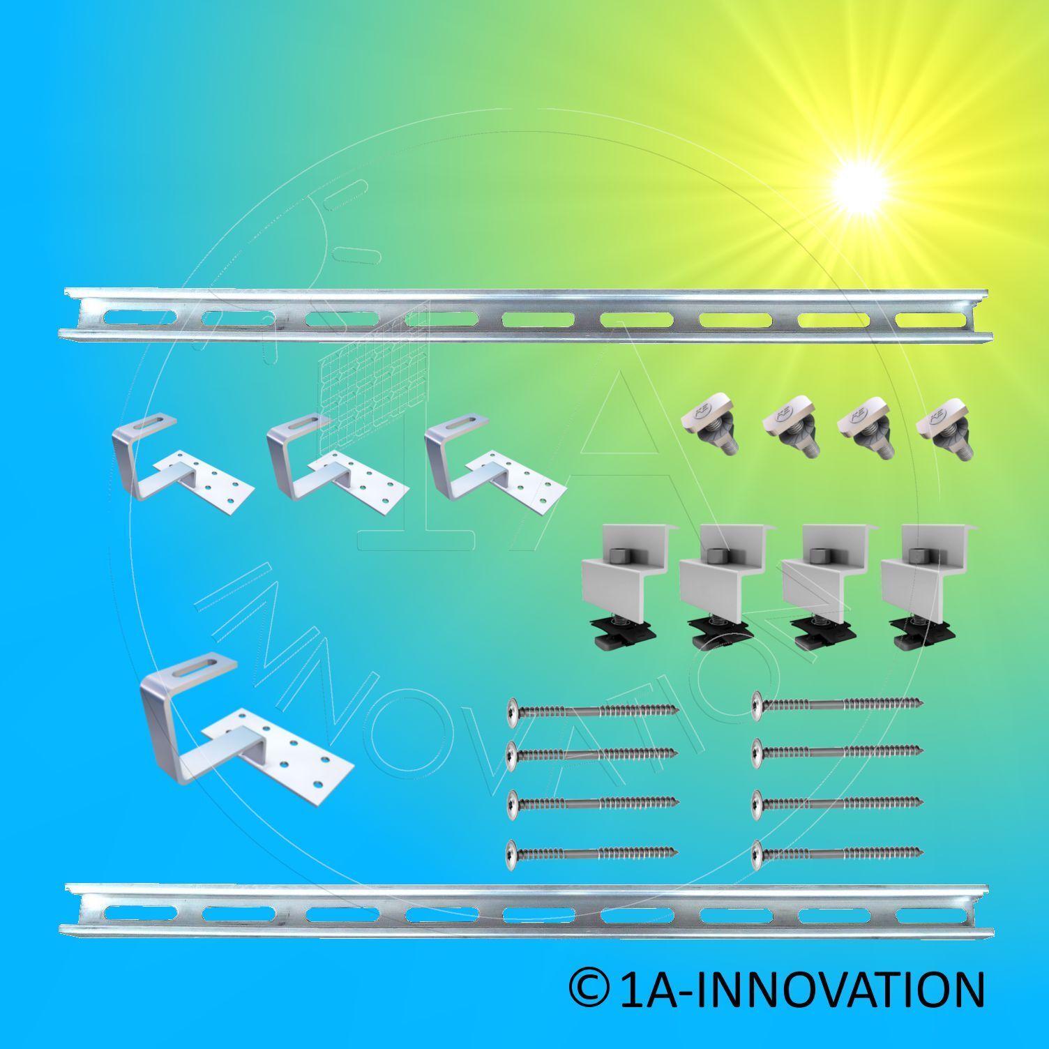Photovoltaik-zubehör Solarmodul Halterung Befestigung Solarhalterung Solaranlage Dachbefestigung 51cm Sophisticated Technologies