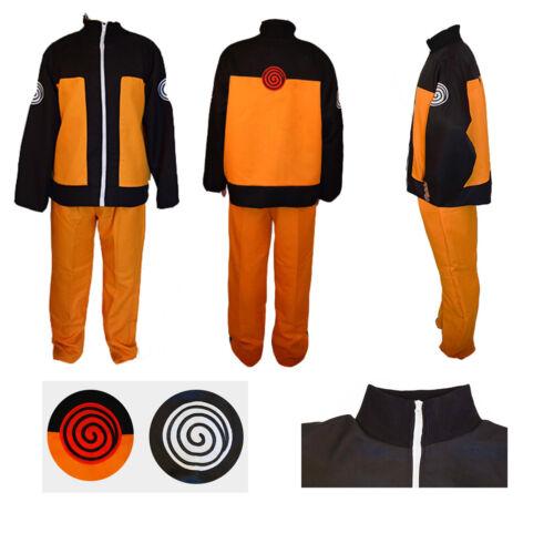 Naruto Shippuden Uzumaki Hokage Cosplay Costume Suit Jacket Pants Adult Size : S