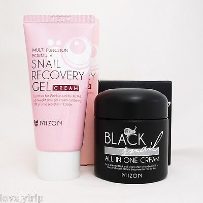 MIZON Black Snail All In One Cream 75ml + MIZON Snail Recovery Gel Cream 45ml