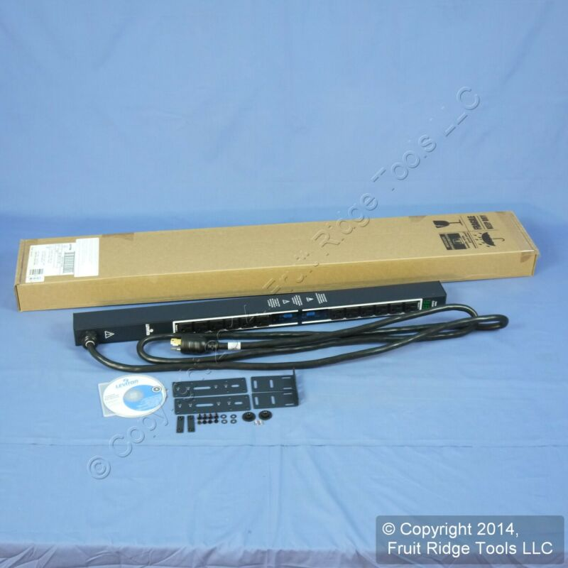 Leviton MV121-1B1 Metered 12 Outlet Rack Power Distribution Strip PDU 30A 120V