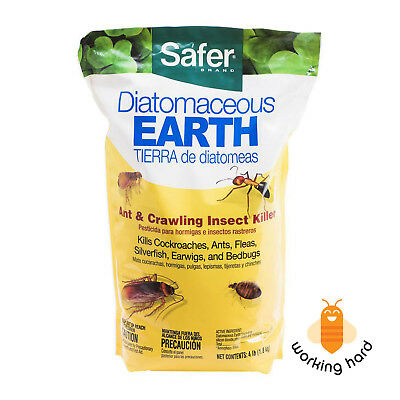 DIATOMACEOUS EARTH CRAWLING INSECT KILLER 4 Lbs Pest Control Powder Bug Flea Ant