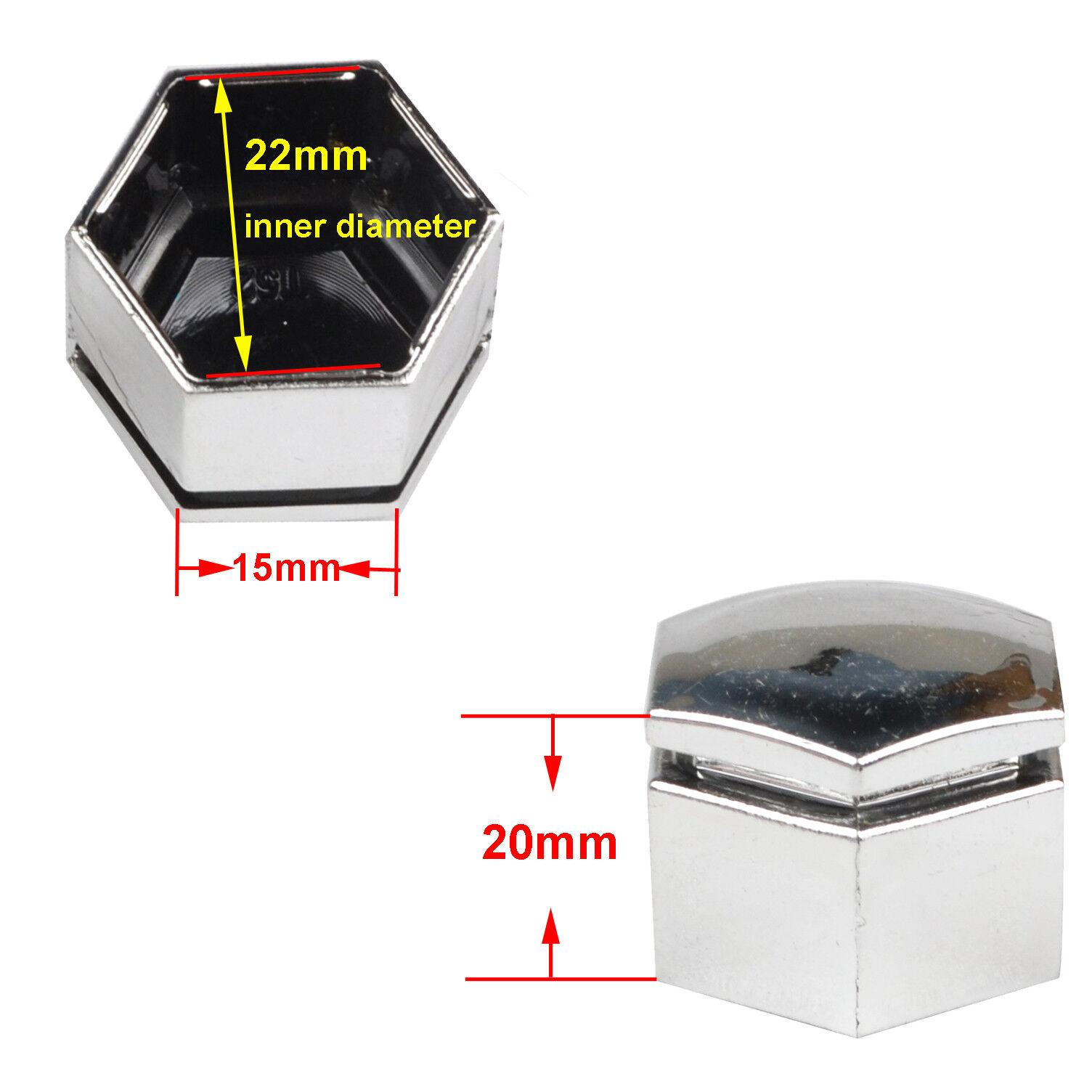 20x Chrome Wheel Nut Caps Bolt Screw Covers 22mm for Range Rover MK L322 02-12