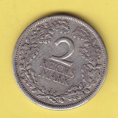 Germany Weimar  2 Reichsmark  1926 J  KM 45  F - VF