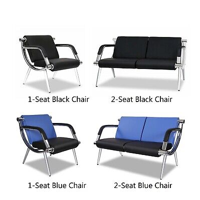 Pu Leather Waiting Room Chair Reception Office Airport Bank Bench 4 Styles