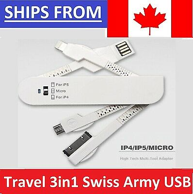 SALE - Travel Charge Cable 3in1 Swiss Army Knife Folding USB Data Sync Charger