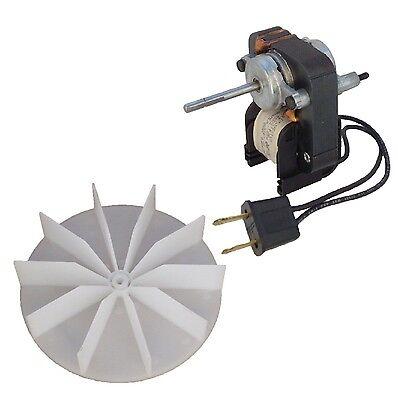 Electric Fan Motor Kit w/Blower Wheel  3/16 Shaft 120V Bathroom Exhaust Vent Fan
