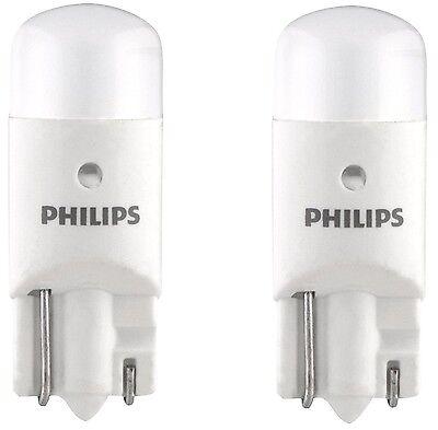 2x Philips 194 LED 6000k Bright White T10 Light bulbs 5050 W5W 2825 158 192 168