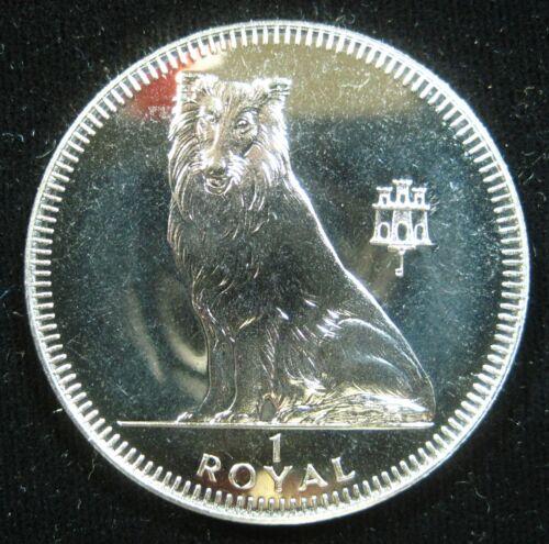 Gibraltar 1 Crown 1995 Collie Dog BU Proof-like 18i# Money Coin