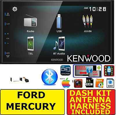 FORD MERCURY TOUCHSCREEN KENWOOD SCREEN MIRROR BLUETOOH USB CAR RADIO STEREO PKG