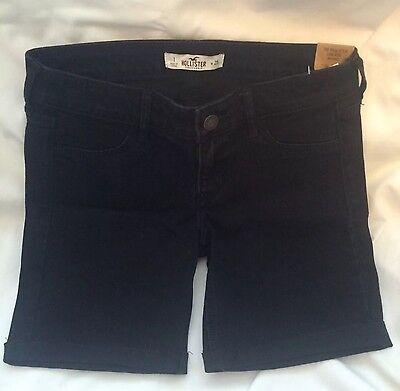 HOLLISTER low rise denim Bermuda Shorts Black W 25 Size 1
