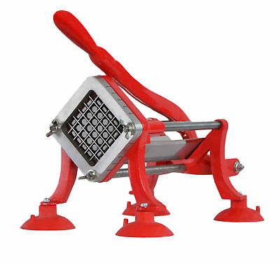 Vivo Commercial Grade Red French Fry Cutter Potato Slicer  12 Inch Blade