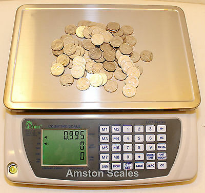 33 Off Open Boxused Counting Parts Coin Scale 110x.005 Lb 50 Kgx2g Refurbished