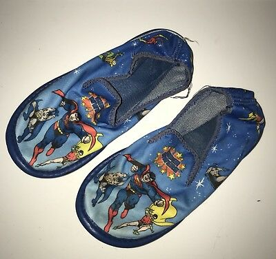 Vintage DC Super Powers Kenner Kids Slippers Shoes Rare batman superman