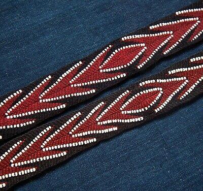 Native American Hand Woven Wool Beaded Garters