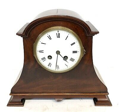 Antique Mahogany Mantel Bracket Clock FRENCH MADE
