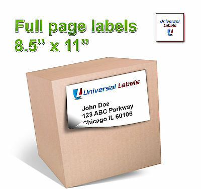 15  8 5  X 11  Full Page Shipping Label   Inkjet   Laser   Made In Usa