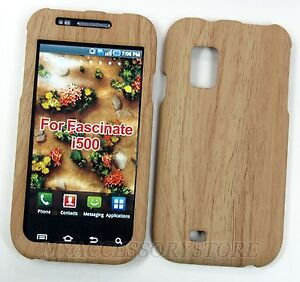 SAMSUNG-GALAXY-S1-MESMERIZE-I500-BAMBOO-WOOD-RUBBERIZED-HARD-PHONE