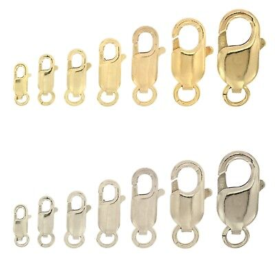 14k White & Yellow Gold Lobster Claw Clasp Bracelet Chain Replacement Lock - Chain Lobster Claw Clasp