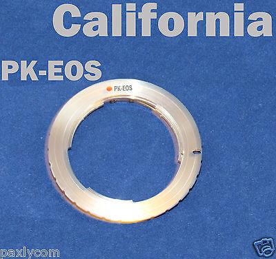 Pentax Pk Mount - Pentax PK K Lens to Canon EOS EF Mount Adapter Ring 50D 600D 1000D 1100D 550D 7D