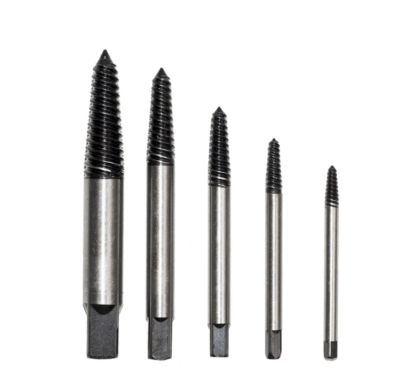 5PC Screw Extractor Set Drill Bits Screws Bolt Remover - Sam