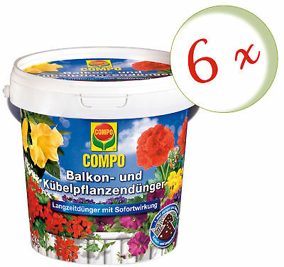 Savings Set: 6 x Compo Balcony and Potted Plants Fertilizer, 1,2 KG