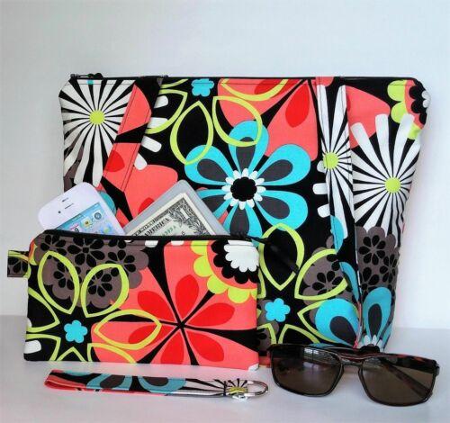 Handmade Shoulder Bag Handbag Project Knit Crochet Purse Keyfob Floral Travel