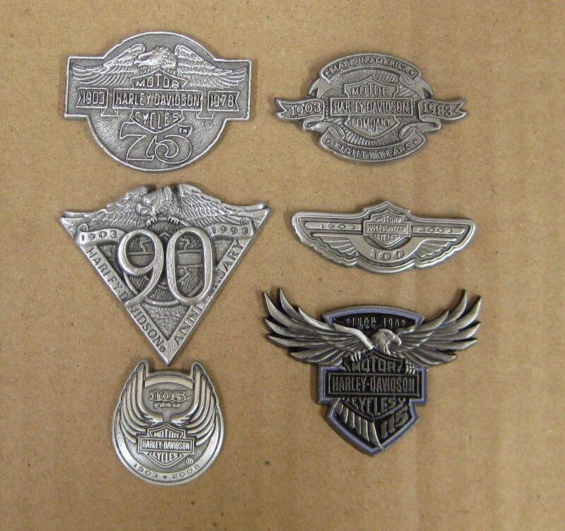 HARLEY DAVIDSON 75th - 115th ANNIVERSARY PIN SET