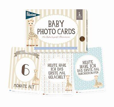 Milestone™- Sophie la girafe Baby Photo Cards- Fotokarten - deutsche Version