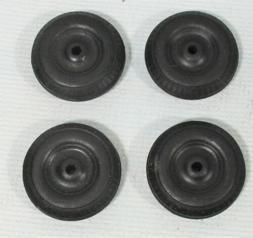 "4 - Rubber Tires Vintage New Old Stock 1 -1/4"" Fits many Car - Trucks Toy Parts"
