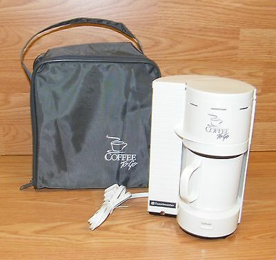 Toastmaster (513) Travel Personal Coffee Maker to Go w/ Case & Plastic Mug *READ