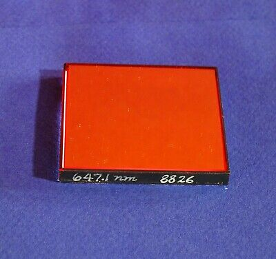 647.1nm Bandpass Filter 3nm Fwhm 2x2 Krypton Laser Line Optical Interference