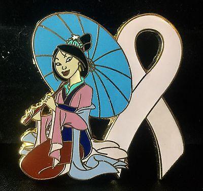 mulan princess pink ribbon support pin
