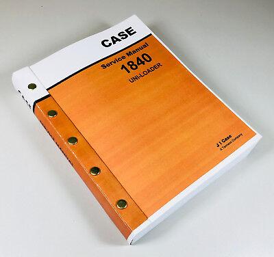 Case 1840 Uni-loader Skidsteer Service Repair Manual Technical Shop Book Rebuild