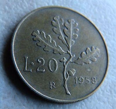 1958 R - 20L/ 20 LIRE - COIN ITALY / ITALIAN