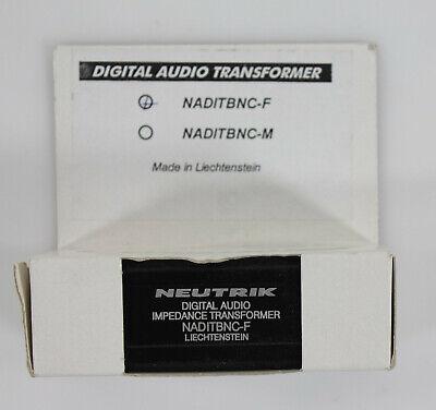 Neutrik Digital Audio Impedance Transformer NADITBNC-F - NEW~!!