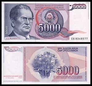 Yugoslavia-5000-Dinara-1-5-1985-Pick-93a-SC-UNC