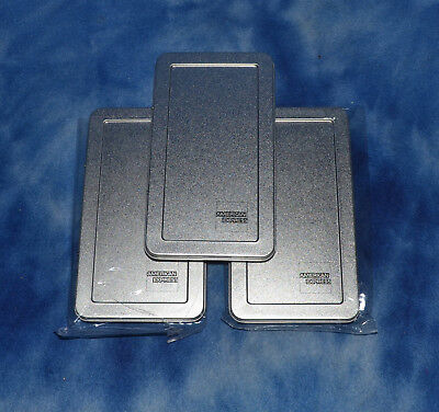 3 American Express Silver Tin Check Presenters 3 12 X 6 12 And 14 Deep New
