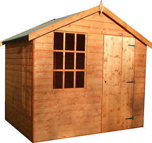 8x5 garden shed quality cabin fully t g super value 8ft for Garden shed 8x5