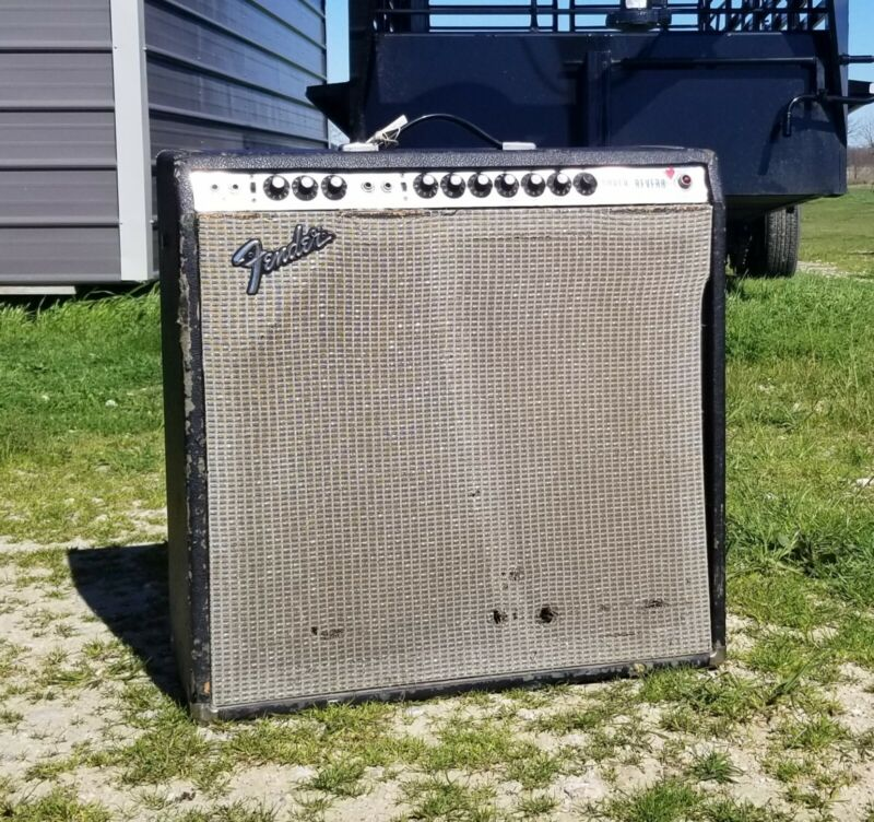 "1973 Fender Super Reverb ""Blackfaced"" with mods... recently serviced"