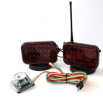 48 LED Wireless Tow Light Kit w/Magnetic Base Cordless Waterproof Haul Truck RV
